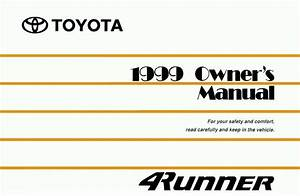 1999 Toyota 4runner Owners Manual User Guide Reference