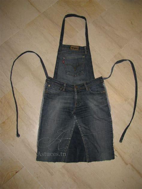 Tuto Tablier De Cuisine En Jean transformer un vieux jeans en tablier de cuisine couture