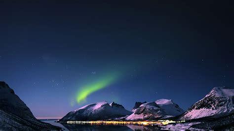 mc wallpaper aurora filled night sky star papersco