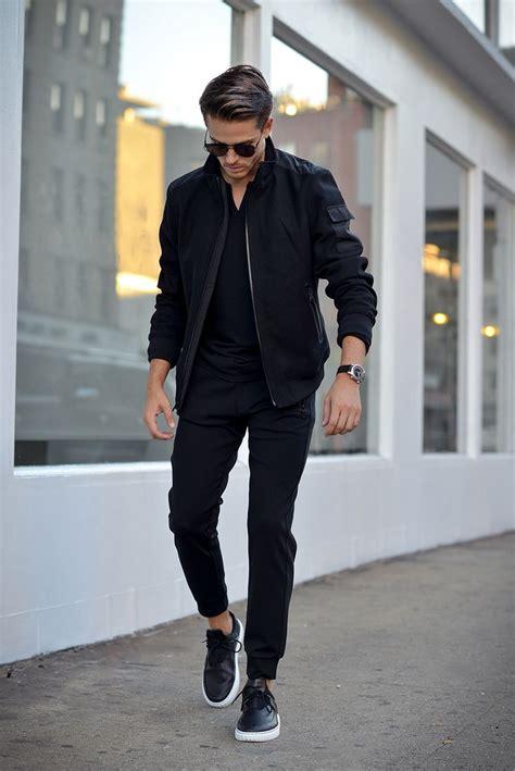 Menu0026#39;s Style u0026 Look 2017 / 2018  Black on Black | Menu0026#39;s Casual Outfit | Bomber Jacket | Shop ...