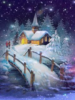 evening winter Winter pictures Christmas scenes