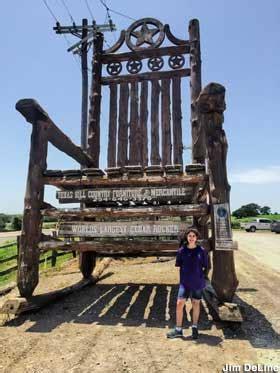 lipan tx  star  texas giant rocking chair