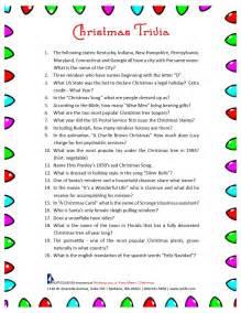 free christmas trivia printable 171 north coast life insurance