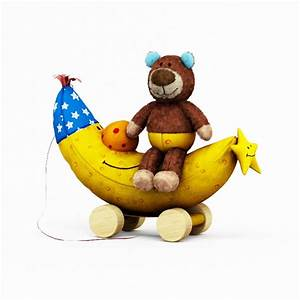 Plush bear and banana 3d model 3ds max files free download for What kind of paint to use on kitchen cabinets for teddy bear wall art
