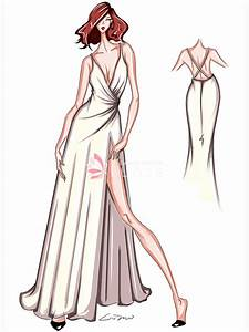 Designer Thigh High Dress Sketches Gallery Wedding Dresses Evening Prom