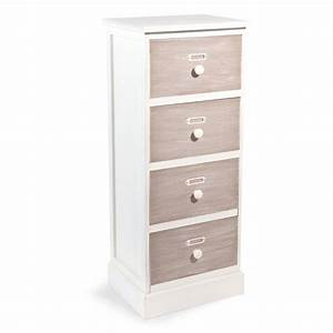 Maison Du Monde Petit Meuble : petit meuble 4 tiroirs en bois h 76 cm beaucourt maisons ~ Dailycaller-alerts.com Idées de Décoration