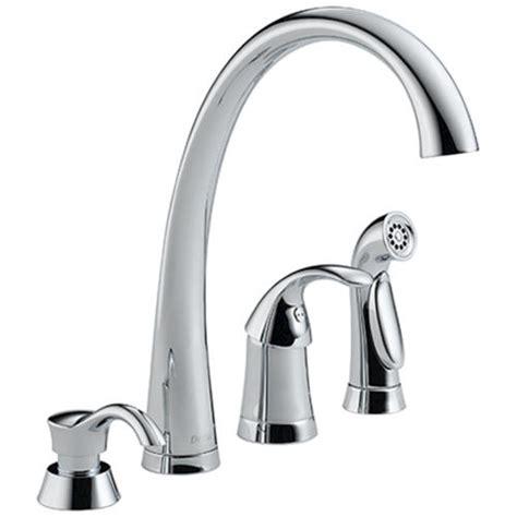delta kitchen faucets menards delta 174 pilar 174 waterfall 1 handle side sprayer kitchen