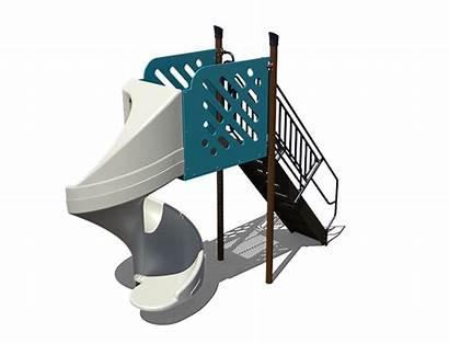Slide Spiral Open Tab Freestanding Playground Playgrounds