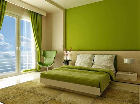 desain kamar tidur warna hijau minimalis modern simpel