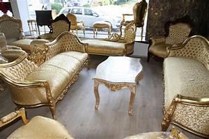 Casa Padrino Barock Esszimmer Stuhl Gold Muster Gold