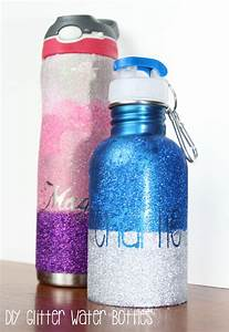 diy personalized glitter water bottle our piece of earth With how to personalize water bottles diy