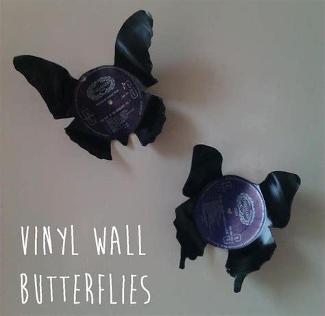 vinyl wall butterflies   decorate  vinyl record