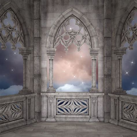 elven palace background wall mural pixers