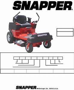 Snapper Lawn Mower Szt18336bve User Guide