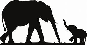 Baby Elephant Silhouette Images & Pictures - Becuo ...