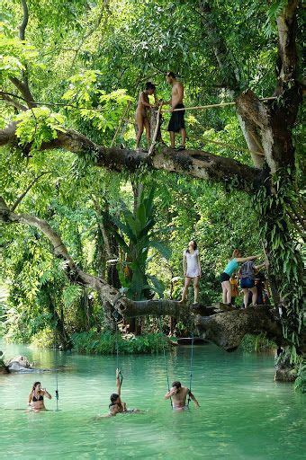 Laos Blue Lagoon And In Thailand On Pinterest