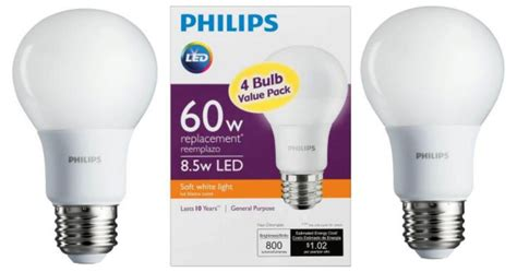 home depot philips 60w soft white led light bulbs 4 count