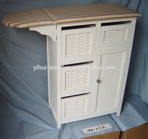 portable ironing board cabinet mutil drawers wooden ironing board with cabinet ironing