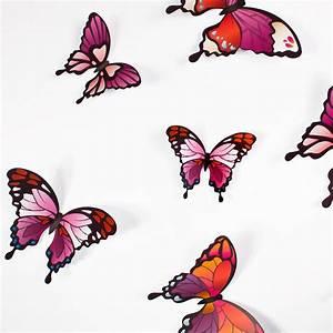 3d Schmetterlinge Wand : wandtattoo 3d schmetterlinge pinkt ne ~ Whattoseeinmadrid.com Haus und Dekorationen