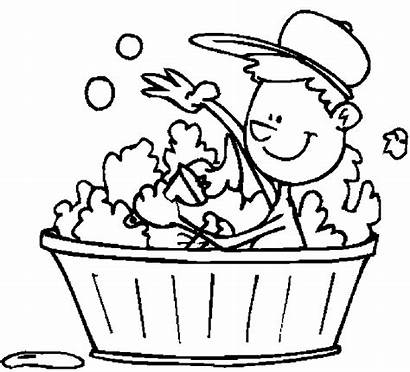 Coloring Pages Bathing Bathroom Popular
