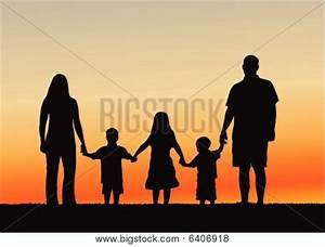 Family Of 5 Holding Hands Silhouette | www.pixshark.com ...