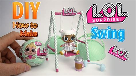 diy realistic miniature swing  lol surprise big