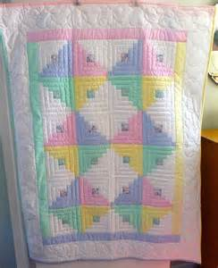 Amish Log Cabin Heart Quilt Pattern