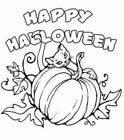 Halloween Happy Coloring Pages Signs Colorings Colour