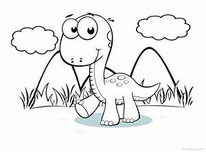 Dinosaur Coloring Pictures Simple Dinosaur Coloring Pages