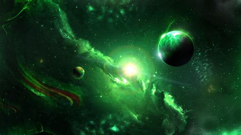If you're in search of the best green backgrounds, you've come to the right place. Download wallpaper 1920x1080 space, galaxy, planets, green, universe full hd, hdtv, fhd, 1080p ...