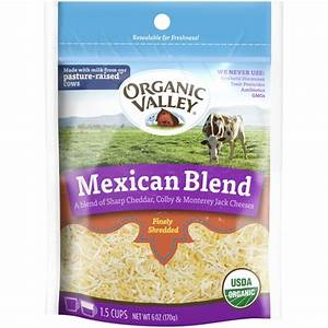 Organic Valley Mexican Blend Fancy Shredded Cheese (6 oz ...