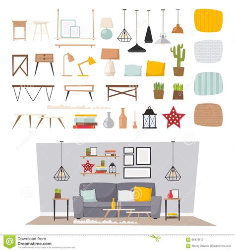 home interior vector home decor icons vector billingsblessingbags org