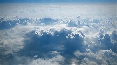 Clouds Flying Cloud Gifs Discover Plane Tenor