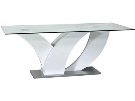meuble cuisine confo table rectangulaire 200 cm elypse coloris blanc esche