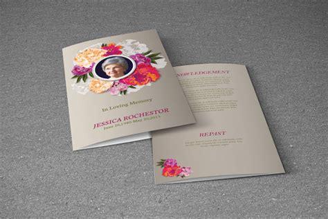 funeral brochure templates sample templates