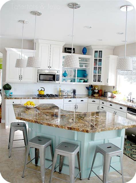 5 ways to get this blue island kitchen