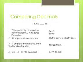 number line decimals whole numbers and decimals ppt