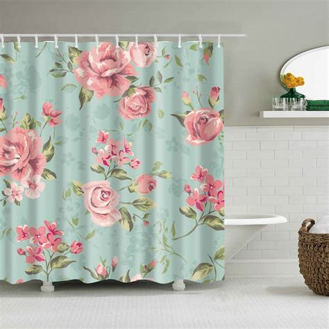 2018 Shower Curtains A Variety Of Colors Of Flowers Bath