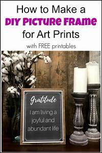 how to make picture frames How to Make a DIY Picture Frame for Art Prints with Free ...