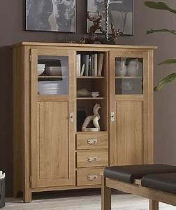 Highboard Eiche Massiv : highboard vitrinenschrank sideboard wohnzimmerschrank eiche massiv ge lt esszimmer schr nke ~ Sanjose-hotels-ca.com Haus und Dekorationen