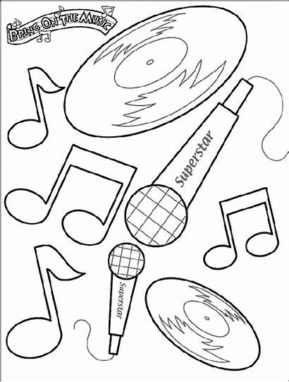 Coloring Crayola Pages Notes Musical Colouring Sheet