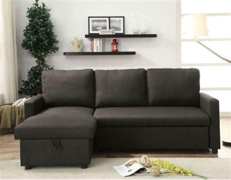 derwyn light brown linen sectional chaise  sleeper