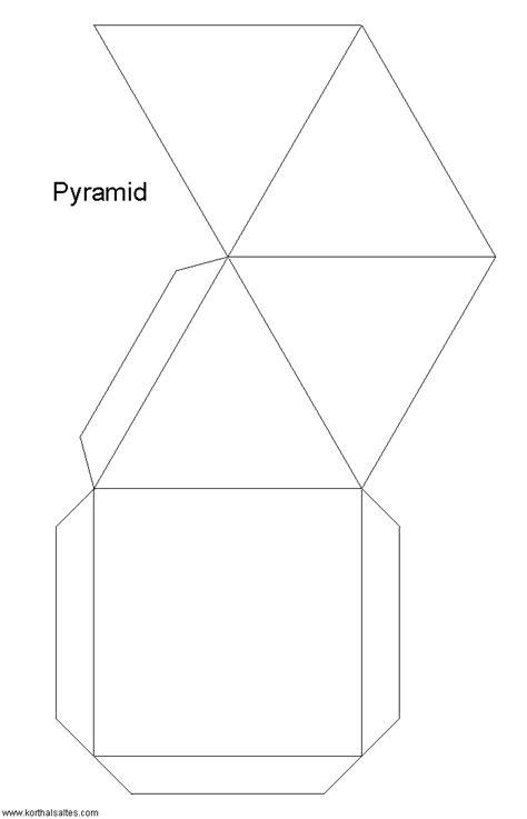 pyramid template paper square pyramids