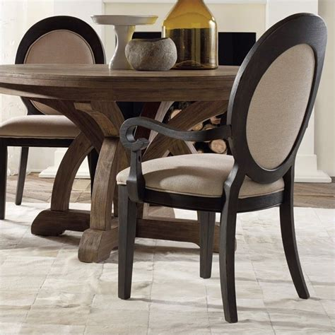 furniture corsica upholstered oval back arm dining