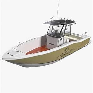 Fishing Boat 4 3d Model