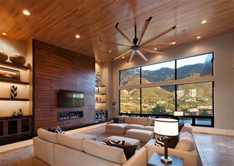 Isis Ceiling Fan  Contemporary  Living Room  Salt Lake