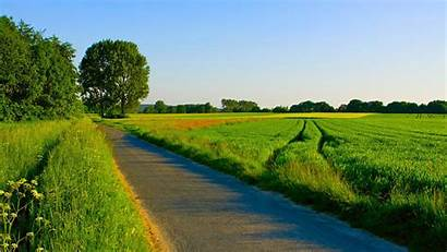 Country Summer Desktop Fields Countryside Road Wallpapers