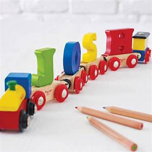 wooden name train by letteroom notonthehighstreetcom With wooden letter train set