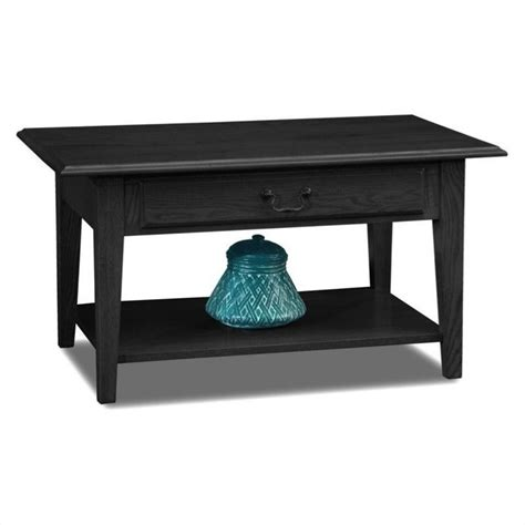 black solid wood coffee table leick furniture shaker solid wood storage coffee table in