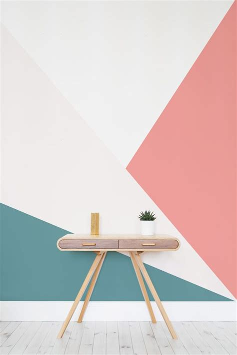 Lovely Pastel Wall Mural Design Ideas by Bright Oversized Geometric Wall Mural In 2019 Decoration